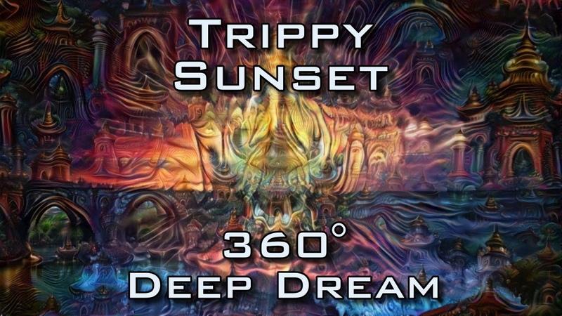 360 VR Trippy Sunset - Psychedelic DeepDream Temple Trip 4K UltraHD