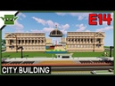 Minecraft Building a City 14 - City Hall and Library and More!