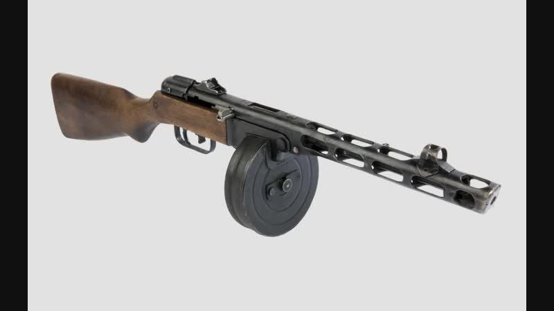 Пистолет-пулемет ППШ-4.
