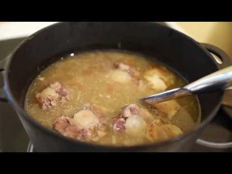 Как сытно поесть на 100 рублей в неделю! Суп Пити в казане из говяжьего хвоста