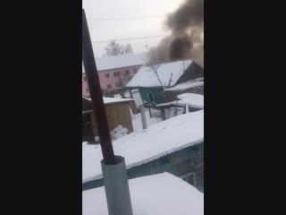 Пожар в частном секторе, старая Московка (23.12.2018)