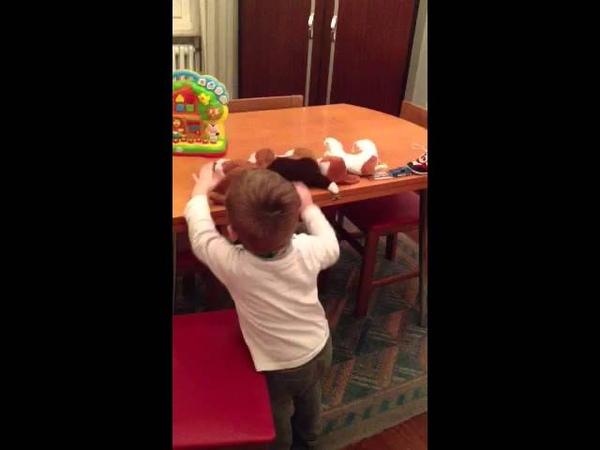 My son: 2 1/2 years old. Autistic behavior.