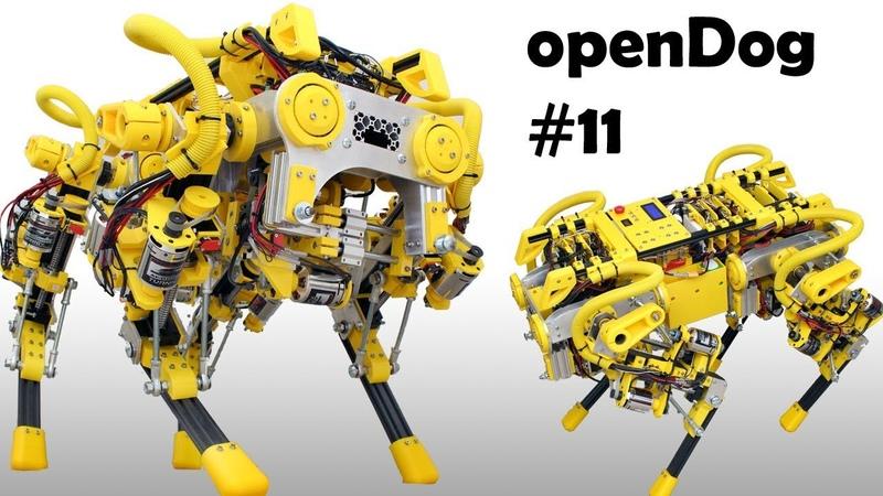 OpenDog Dog Robot 11 | Kinematics Pitch Roll Yaw | James Bruton