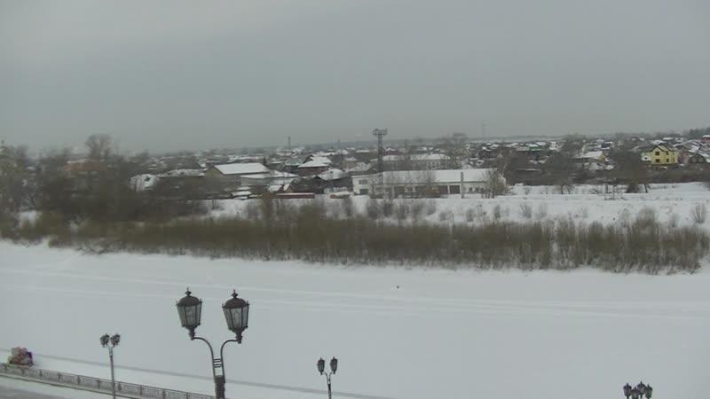 Спуск к реке Тюменка 16 02 19