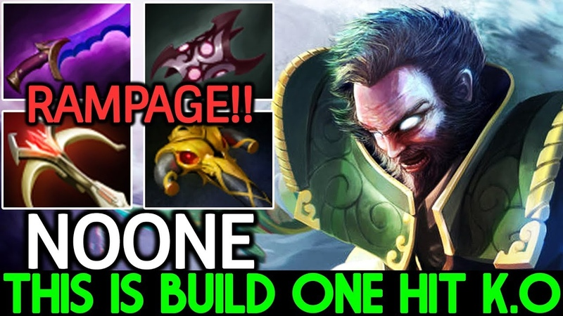 Noone [Kunkka] This is Build One Hit K.O Insane Damage 7.20 Dota 2