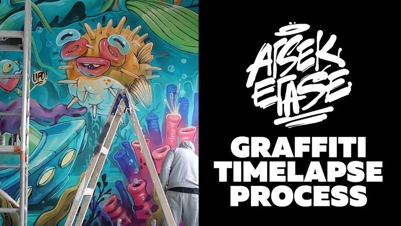 Arsek Erase Aquarium graffiti Timelapse