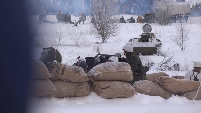 Немцы стреляют по нашему танку (19.01.2019). Красное Село