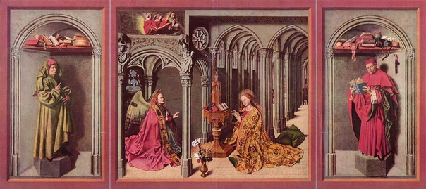 МАСТЕР БЛАГОВЕЩЕНИЯ ИЗ ЭКСА В середине XV века, как и прежде, изменения мироощущения полнее и последовательнее, чем в других видах искусства, выражались в живописи и миниатюре. По-прежнему