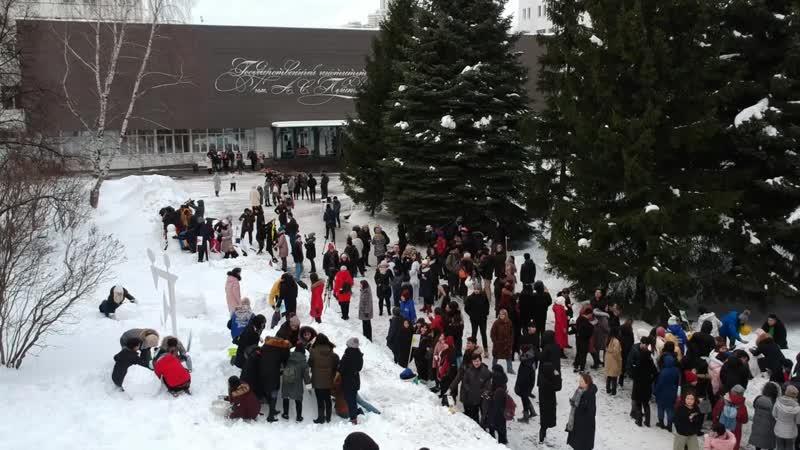 Всемирный день снеговика в Институте Пушкина - 2019
