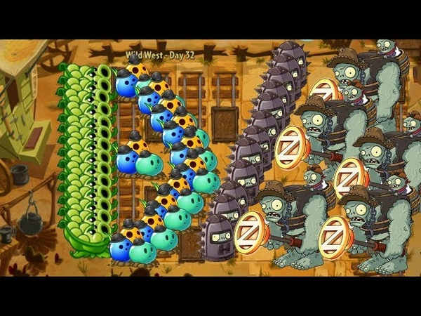 Plants vs Zombies 2 - Sling Pea and Bowling Buld vs 999 Zombies