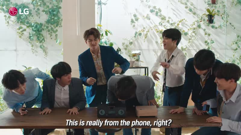 180711 LG G7 ThinQ BTS reacts to LG G7 ThinQ Boombox Speaker