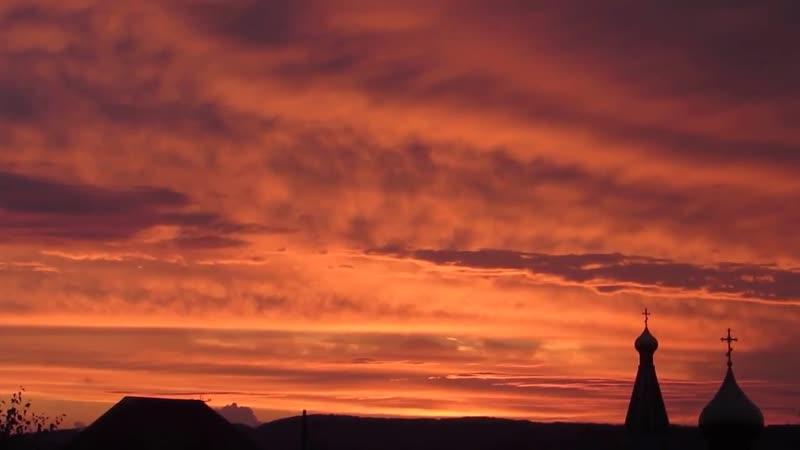 Красивейший закат в городе Горячий Ключ / Наша группа в ВК: Горячий Ключ 24.