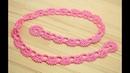 Кайма для ирландского кружева урок вязания крючком crochet irish lace