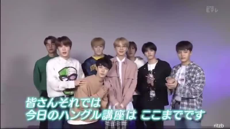 NCT 127 on NHK ETV Hangul Lesson (K-Tan corner ending)