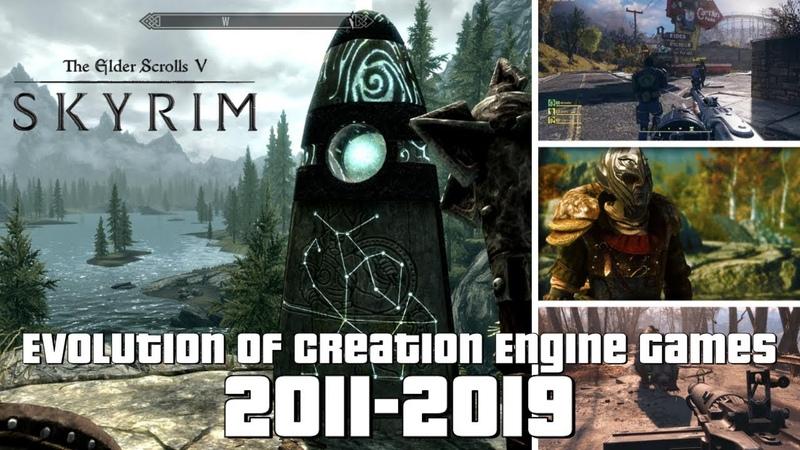 Evolution of Creation Engine Games 2011-2019
