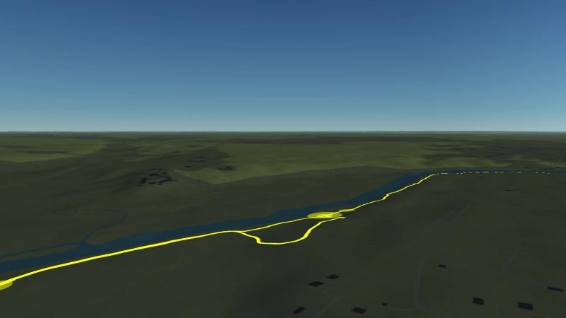 Воскресная пробежка по берегу реки после Рибока