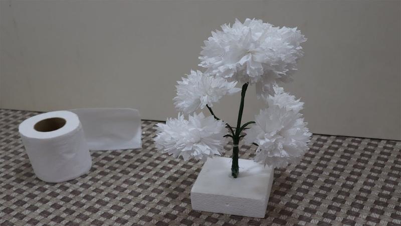টিস্যু পেপার দিয়ে আকর্ষণীয় ফুল বানানো Turn Tissue Paper into Wh