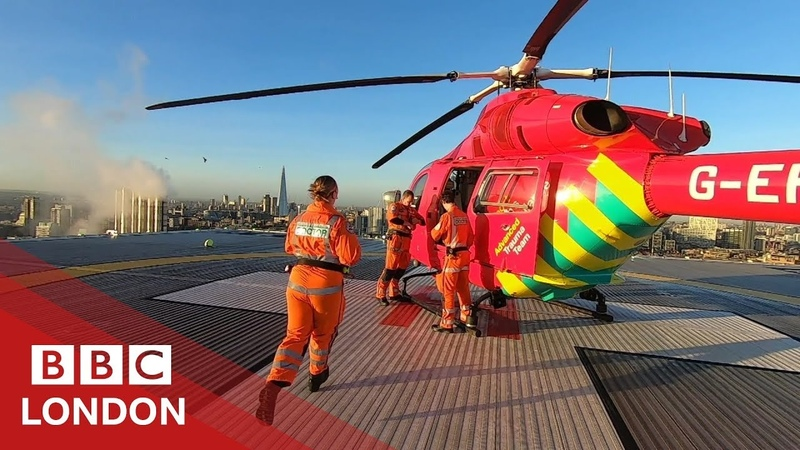Flying with London's air ambulance BBC London