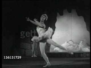 Natalie Krassovska of London's Festival Ballet performing The Nutcracker Suite, London, UK, 1950
