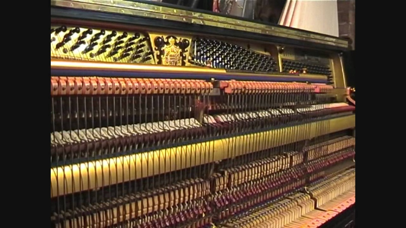 1896 Bluthner Upright Piano Playing Chopin Etudes Op 25 No 1