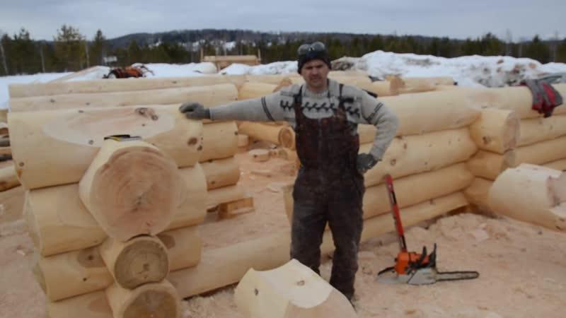 Баня из кедра, как делается канадская чашка без поднутрения ! часть 37