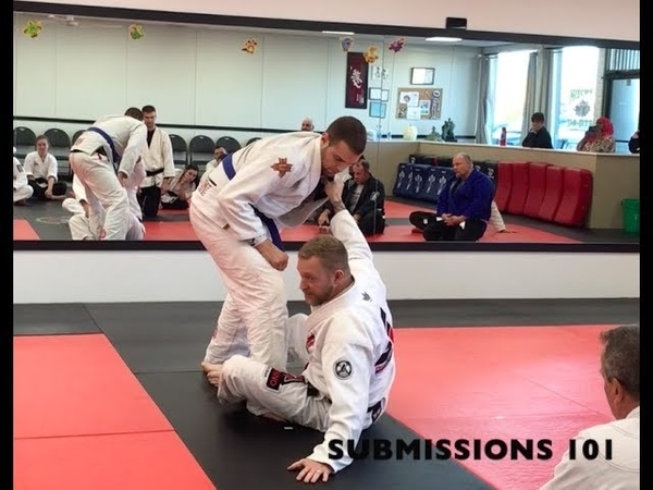 Base sweep from sitting guard position