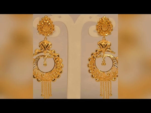 Latest gold drop earrings designs  Gold ear studs  Jhumka design collection
