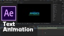 Simple Gradient Text Animation After Effects Tutorial No Plugin Urdu Hindi