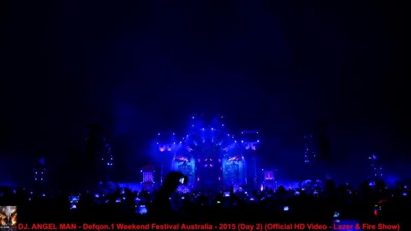 DJ. ANGEL MAN - Defqon.1 Weekend Festival Australia - 2015 (Day 2) (HD Video - Lazer Fire Show)