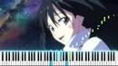[Tensei Shitara Slime Datta Ken OP 2] Meguru Mono - Takuma Terashima (Synthesia Piano Tutorial)