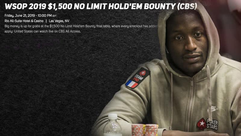 WSOP 2019 44 $1,500 NLHE BOUNTY 05:00 MSK (22.06.19)