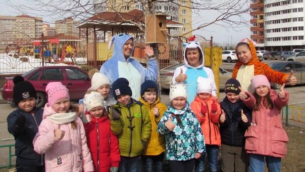 Альметьевские дошколята встретили пернатых друзей с новыми скворечниками
