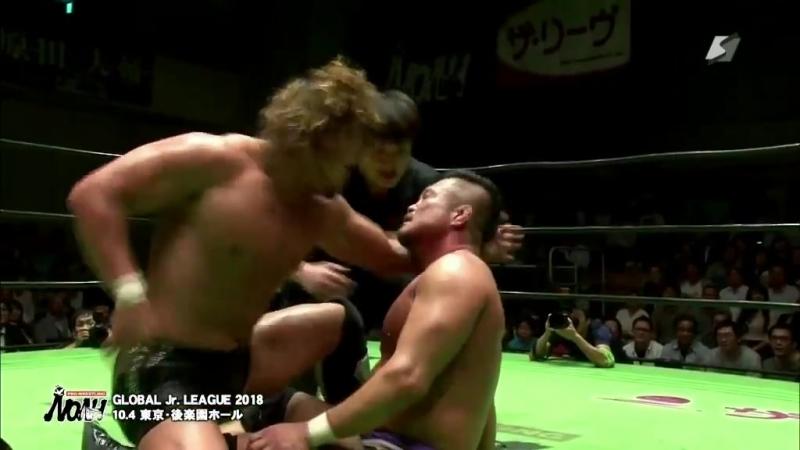 Takashi Sugiura (c) vs. Katsuhiko Nakajima (NOAH - Global Junior League 2018 - Day 10)