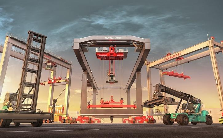 Konecranes widest offering for intermodal container handling