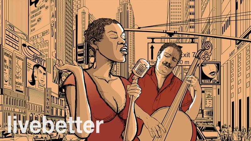 Бибоп джаз современного Нью-Йорк инструментального | Современный джаз перешел на работу и учебу