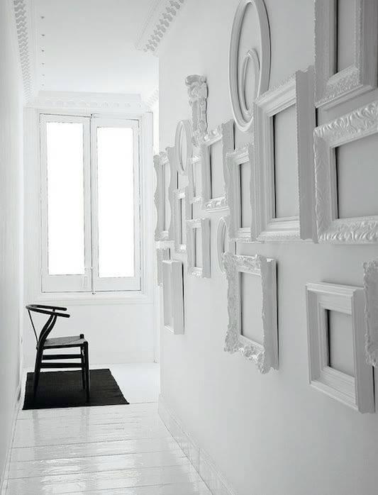 Декор из картин и рамок