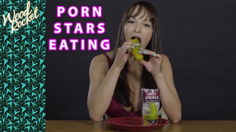 Porn Stars Eating Lexi Luna Eats a Hot Pickle