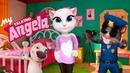 МОЯ ГОВОРЯЩАЯ КОШЕЧКА АНДЖЕЛА 22 УХАЖИВАЕМ ЗА КОШКОЙ АНДЖЕЛОЙ - игры мультики про кошечку