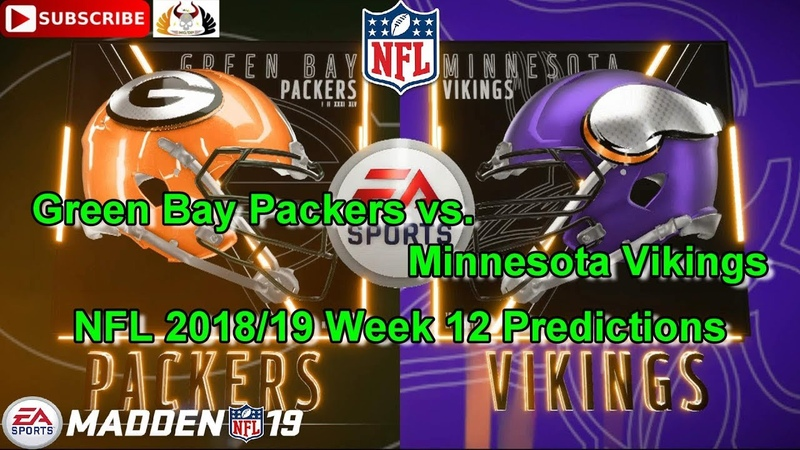 Green Bay Packers vs. Minnesota Vikings | NFL 2018-19 Week 12 | Predictions Madden NFL 19