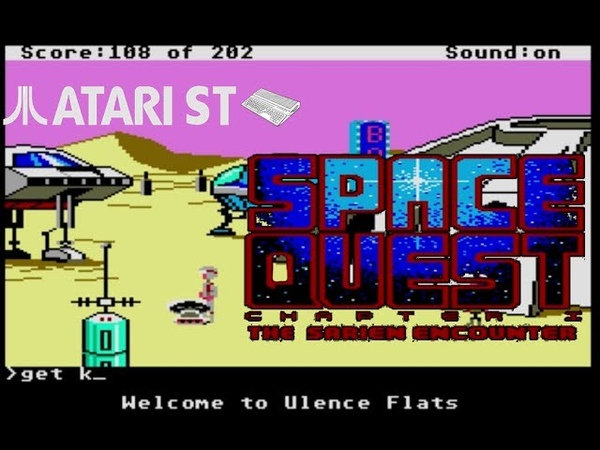 Space Quest The Sarien Encounter - Atari ST (1986) playthrough