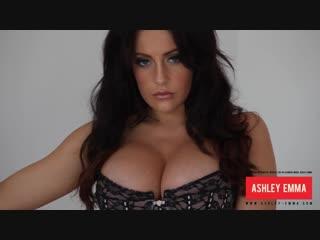Ashley Emma sexy brunette in black thong
