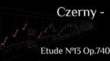 Carl Czerny - Etude №13 (B-Dur) Op.740 (With MIDITrail)