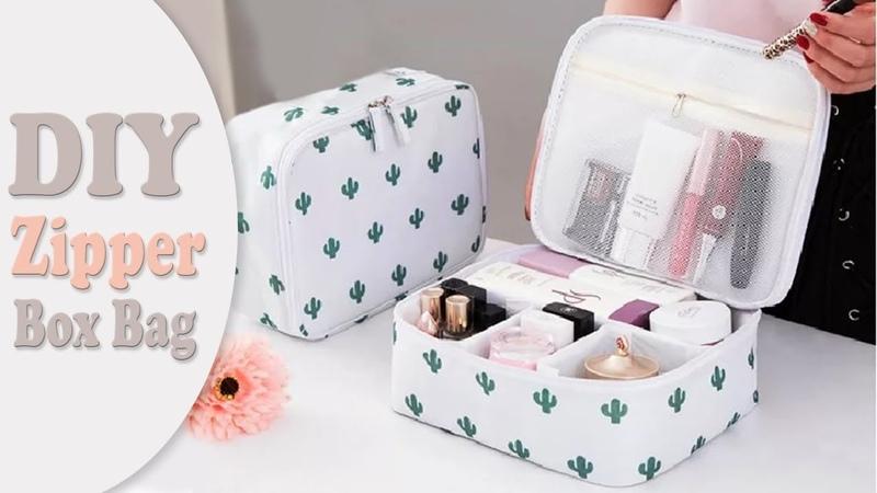 DIY ORGANIZER ZIPPER BOX BAG NO SEW Travel Bag Design Tutorial