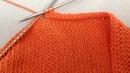 Декоративный и эластичный способ закрытия петель спицами полый шнур