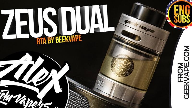 Zeus Dual RTA l by Geek Vape l ENG SUBS l Alex VapersMD review 🚭🔞