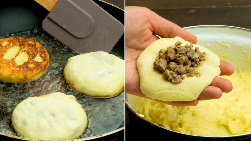 Вроде очень просто, но как же вкусно получается! Картофельные котлеты с сюрпризом! | Appetitno.TV