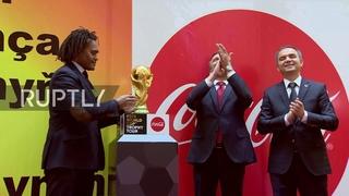 Turkmenistan: Ashgabat welcomes FIFA World Cup trophy as part of tour