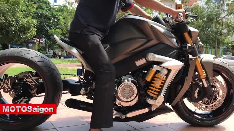 Motosaigon trải nghiệm Phuộc kéo thiết kể bởi Motor Phi Long