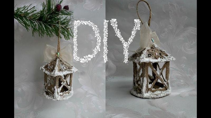 Снежная паста и фонарь из шпагата🎄❄🎅 Мастер-класс