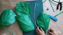 Веточка листьев из изолона для больших цветов